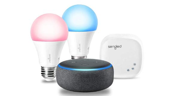 Echo Dot (3rd Gen) Charcoal with Sengled Color Smart Lighting Kit ($79.89; amazon.com)