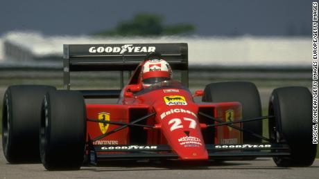 1989:  Nigel Mansell of Great Britain in action in his Scuderia Ferrari during the Brazilian Grand Prix at the Rio circuit in Brazil. Mansell finished in first place. \ Mandatory Credit: Pascal  Rondeau/Allsport