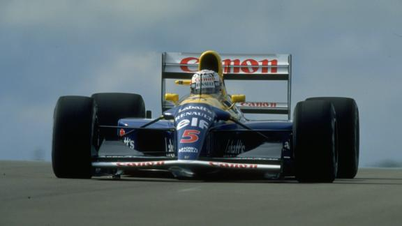 The Brit also drove the Williams FW14B to victory at the 1992 British Grand Prix.