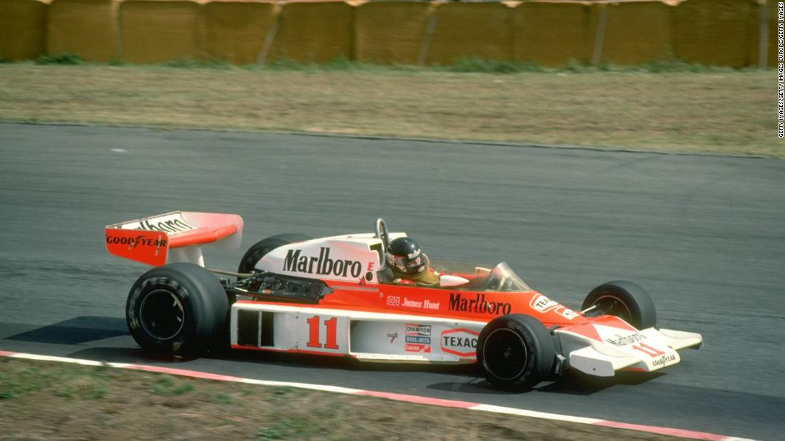 ... before James Hunt replaced the Brazilian and seized the title by a single point from Nicki Lauda two years later.