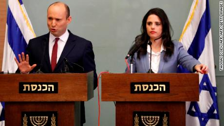 Naftali Bennett (left) and Ayelet Shaked have formed a new political party, to be called the New Right. (File photo)