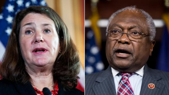 Democratic Reps. Diana DeGette of Colorado is pictured at left. Assistant Democratic Leader Jim Clyburn, a South Carolina, Democratic congressman, is pictured at right.
