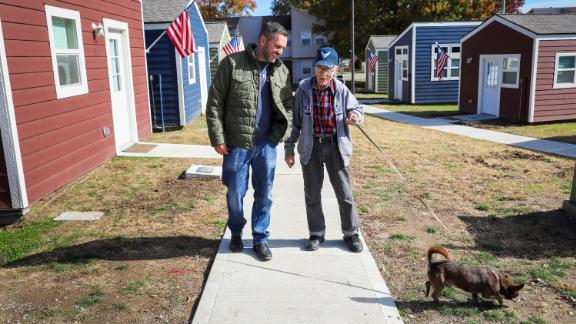 "In 2015, Stout and a few friends quit their jobs and started the Veterans Community Project, which built a village of tiny homes for homeless vets. The group also connects vets to life-changing services. The first 13 tiny homes opened in January, and 13 more will be finished this November. ""It provides everything these guys need to live with dignity, safely, and then fix what got them there in the first place,"" he says."