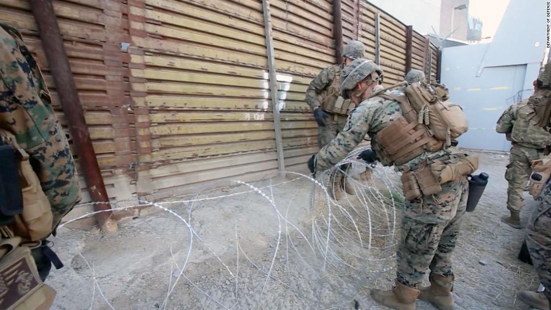 Pentagon puts cost of border troops at $72 million - for now