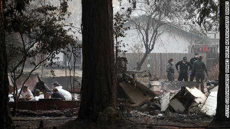 Crews search for human remains last week in Paradise, California, a town virtually wiped out by fire.
