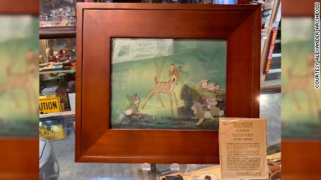 "A homeless man found this 1937 animation cel from Disney's ""Bambi"" in an Edmonton trash bin."