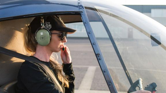 Beck Bamberger is the founder of  a public relations firm and started learning how to fly a helicopter three years ago.