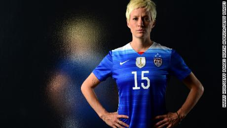 LOS ANGELES, CA - NOVEMBER 20:  U.S. women's national soccer team player Megan Rapinoe poses for a portrait at the USOC Rio Olympics Shoot at Quixote Studios on November 20, 2015 in Los Angeles, California.  (Photo by Harry How/Getty Images)