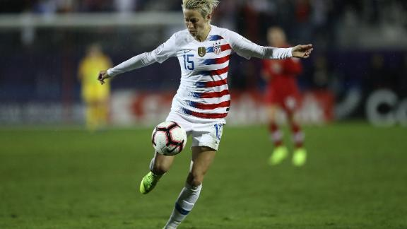 """""""It forced people at least to start to think about it, whatever your views are on it,"""" says Rapinoe of Kaepernick"""