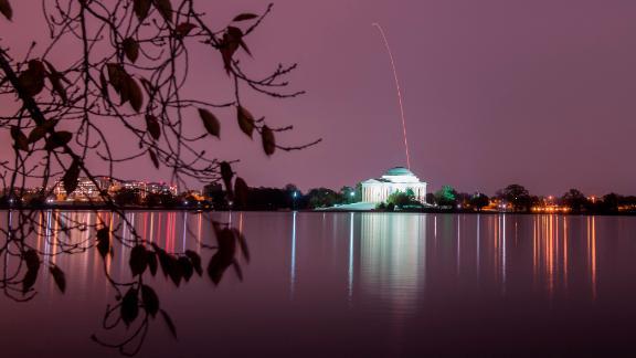 Wallops Island, Virginia: An Antares rocket sets off from NASA