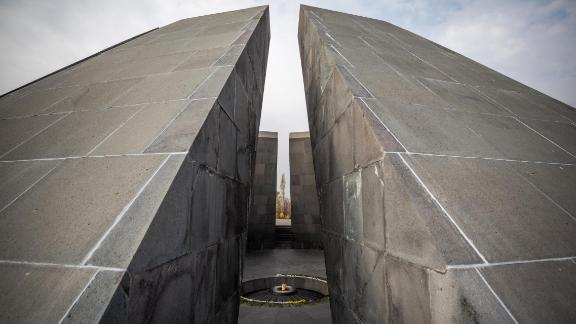 Yerevan, Armenia: The Armenian Genocide Memorial complex, Tsitsernakaberd, was built in 1967 in the Armenian capital of Yerevan to commemorate the approximately 1.5 million Armenians killed in the Ottoman Empire between 1914 and 1923.