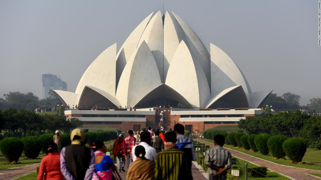 "<strong>New Delhi: </strong>The Lotus Temple, made up of 27 free-standing marble-clad ""petals,"" is a Bahá'í House of Worship and one of India's most popular sights."