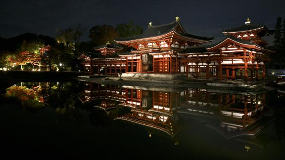 Uji, Japan: Byodoin Temple, built in the 10th century, is a Buddhist place of worship and a UNESCO World Heritage site.