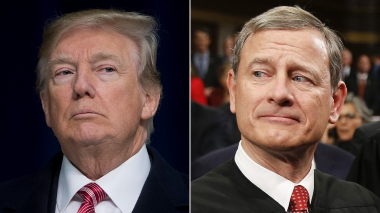 Trump slams chief justice after Roberts chides the President