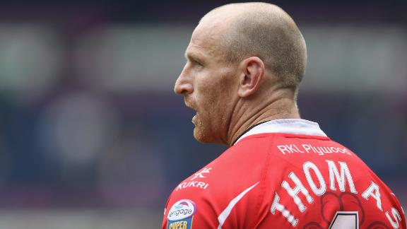 EDINBURGH, SCOTLAND - MAY 01:  Gareth Thomas of Crusaders RL during the Engage Rugby Super League Magic Weekend match between Bradford Bulls and Crusaders RL at Murrayfield on May 1, 2010 in Edinburgh, Scotland.  (Photo by Phil Cole/Getty Images)