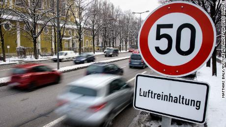 A speed limit sign in Munich, Germany. The teenager was caught driving at 95kmh in a 50kmh zone under an hour after passing his test.
