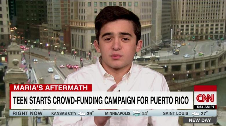 Ninth Grader Raises Funds For Puerto Rico
