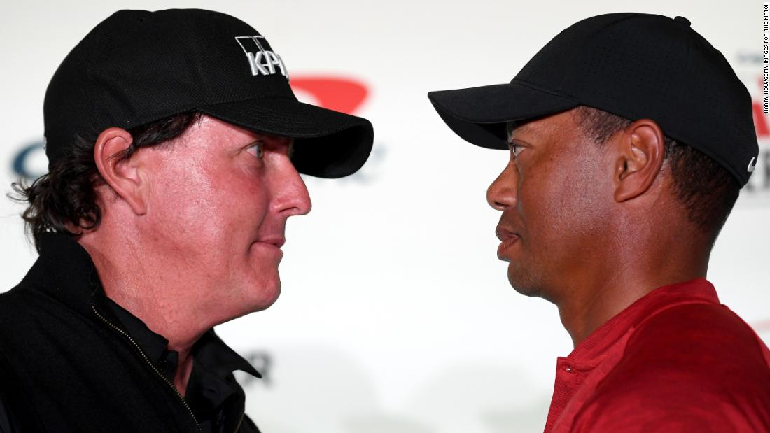 Tiger Woods and Phil Mickelson set for charity rematch involving NFL stars Tom Brady and Peyton Manning