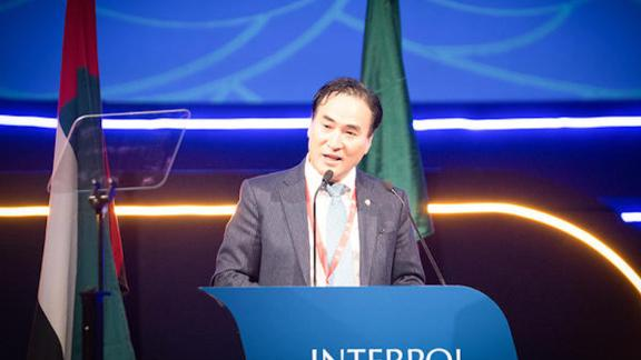 Interpol's General Assembly elected Kim Jong Yang of South Korea as the organization's new President.