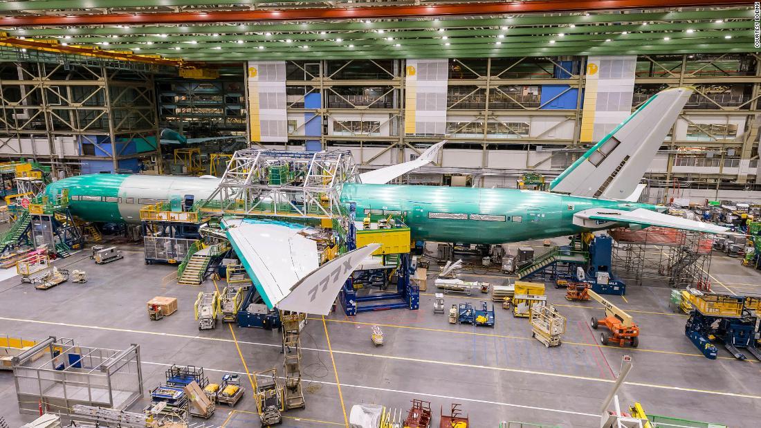 Boeing's 777X jetliner comes together