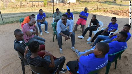 YMM members discuss sex during a meeting in Pankop, Mpumalanga province, in South Africa.