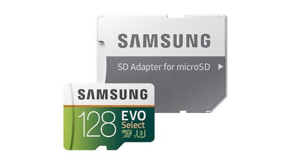 Samsung 128GB 100MB/s (U3) MicroSD EVO Select Memory Card with Adapter ($19.99, originally $41.99; amazon.com)