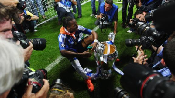 Drogba heled Chelsea win the Champions League in 2012.