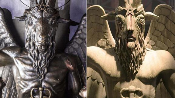 The group said its statue (left) was copied illegally by a Netflix TV show (right).