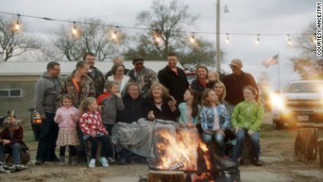 The extended Finnegan family celebrates Thanksgiving -- and its roots in Gross, Nebraska.