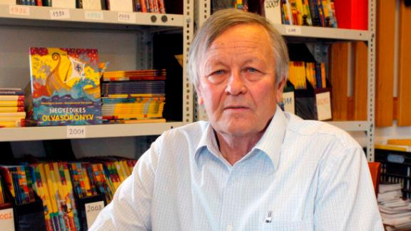 Former teacher András Romankovics first started publishing school textbooks in the 1970s.