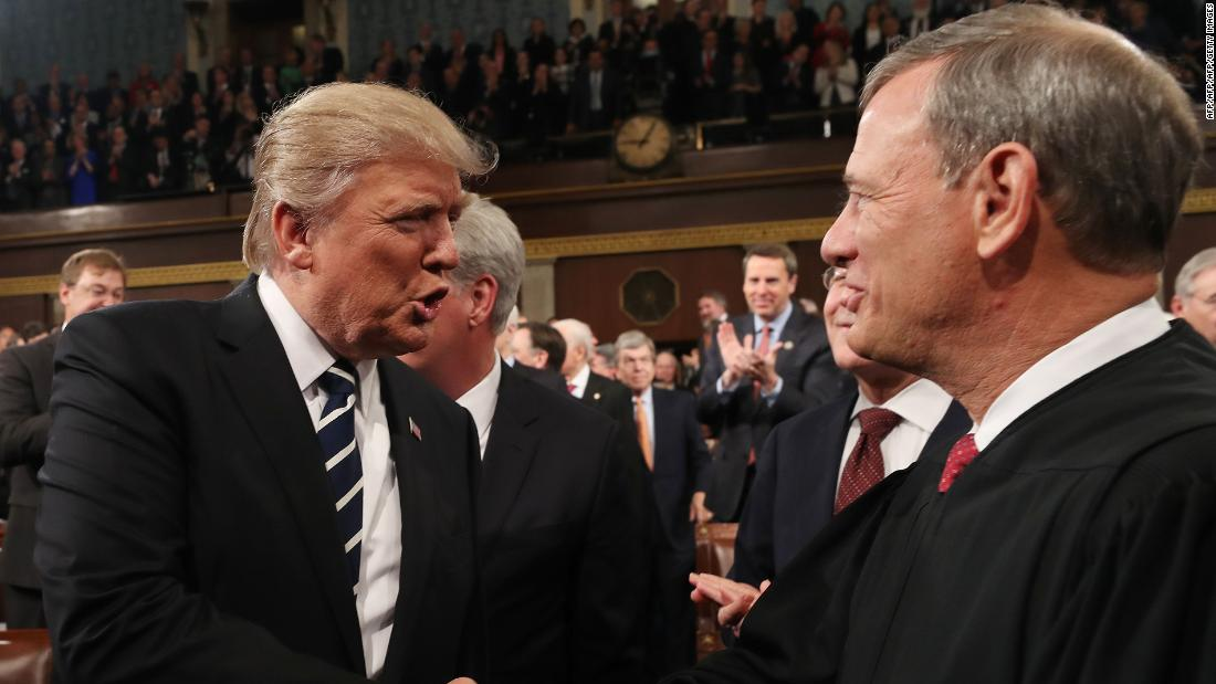 Another potentially awkward holiday for Trump and Roberts