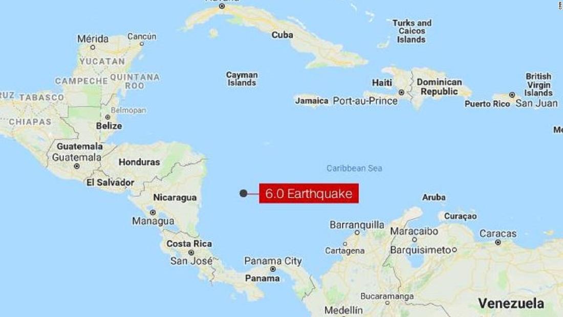 6.0-magnitude earthquake strikes off Colombia coast