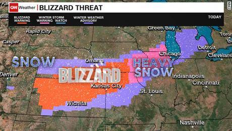 4 million people under blizzard warnings