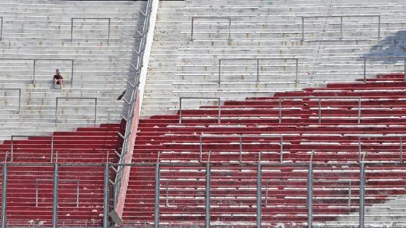But only a couple of thousand River fans had made it into El Monumental when the match was canceled for a second time on Sunday.