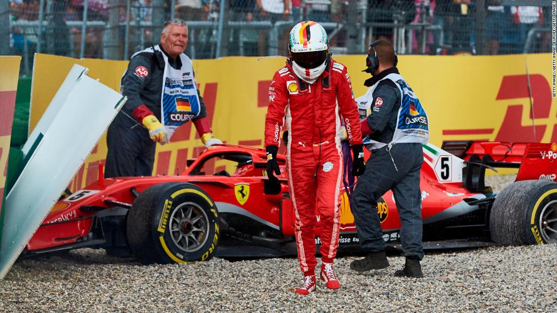 For Ferrari, 2018 is likely to go down as the season of what might have been. Boasting the fastest car for much of the year, crucial and basic mistakes opened the door for Hamilton and Mercedes to take the title. Arguably Vettel's personal nadir came at the German Grand Prix. Leading the way and on course for a first ever victory on home soil, a lapse in concentration saw him slide off the track and onto the gravel in wet conditions. Vettel pounded his fists on his steering wheel and had to watch on as Hamilton climbed from 14th to take an unexpected victory.