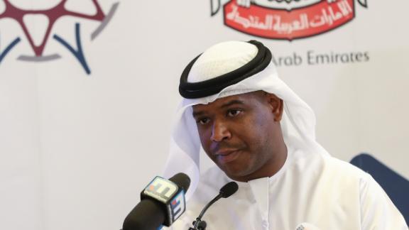 Jaber al-Lamki of the UAE National Media Council announced Hedges' pardon.