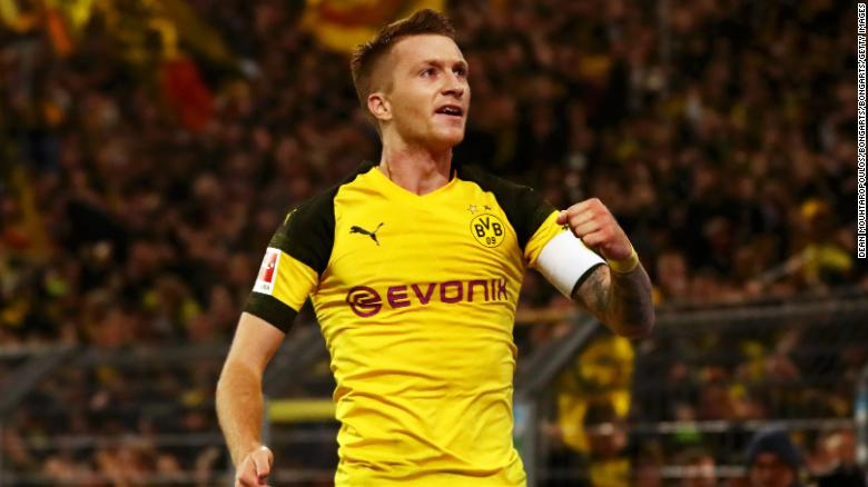 Marco Reus has been in impressive form this season, scoring 12 goals for Dortmund.