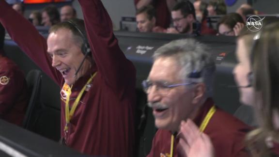 NASA celebrates the InSight landing on Mars.