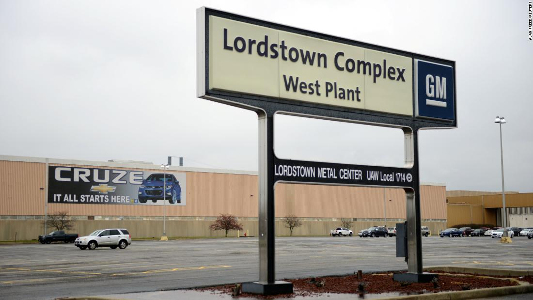 Production will end at GM's Lordstown, Ohio plant on Wednesday