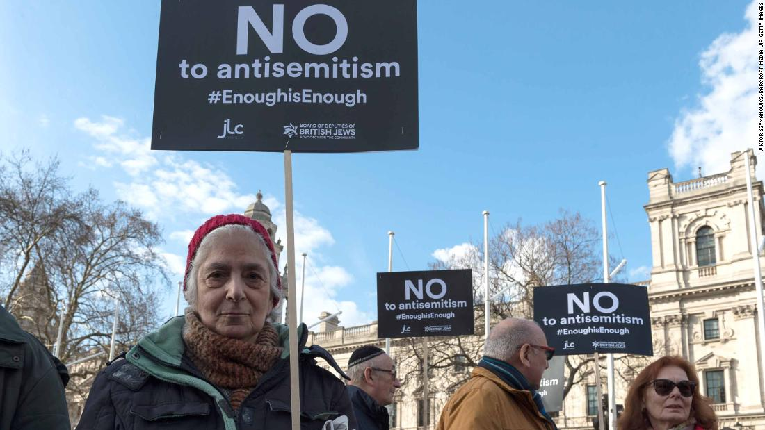 Reported anti-Semitic incidents hit record high in UK -- charity
