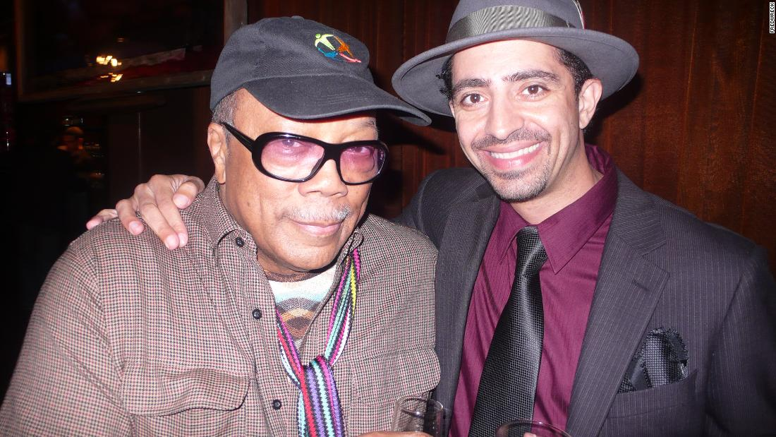 FredWreck with celebrated Motown-era music producer Quincy Jones.