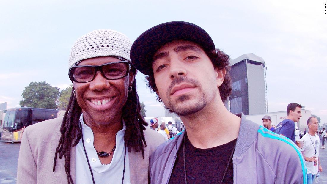 FredWreck (R) with Nile Rodgers (L), co-founder of the band Chic, three time Grammy Award-winner and chairman of the Songwriters Hall of Fame.