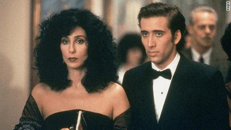 "(From left) Cher as Loretta Castorini and Nicolas Cage as Ronny Cammareri co-star in ""Moonstruck."" Cher won an Oscar for best actress in this role."