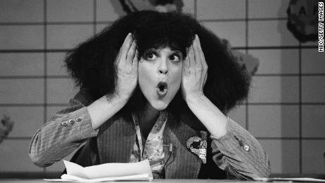 "SATURDAY NIGHT LIVE -- Episode 16 -- Pictured: Gilda Radner as Roseanne Roseannadanna during ""Weekend Update"" sketch on April 7, 1979 -- (Photo by: NBC/NBCU Photo Bank via Getty Images)"