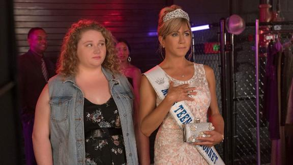 "Danielle Macdonald and Jennifer Aniston star in the Netflix film ""Dumplin."""