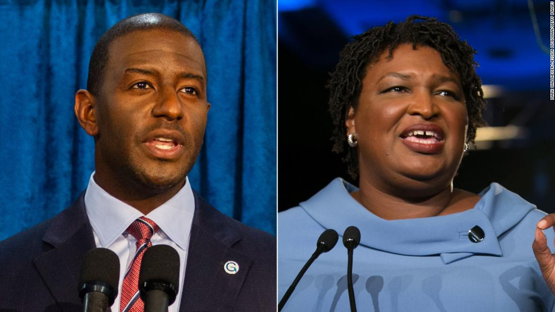 Stacey Abrams, Andrew Gillum call on Senate to reject Trump federal judge nominee