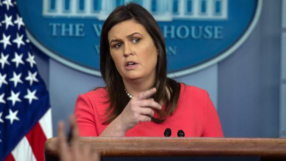 White House spokesperson Sarah Sanders speaks at a press briefing at the White House in Washington, DC, on November 27, 2018. (Photo by NICHOLAS KAMM / AFP)        (Photo credit should read NICHOLAS KAMM/AFP/Getty Images)