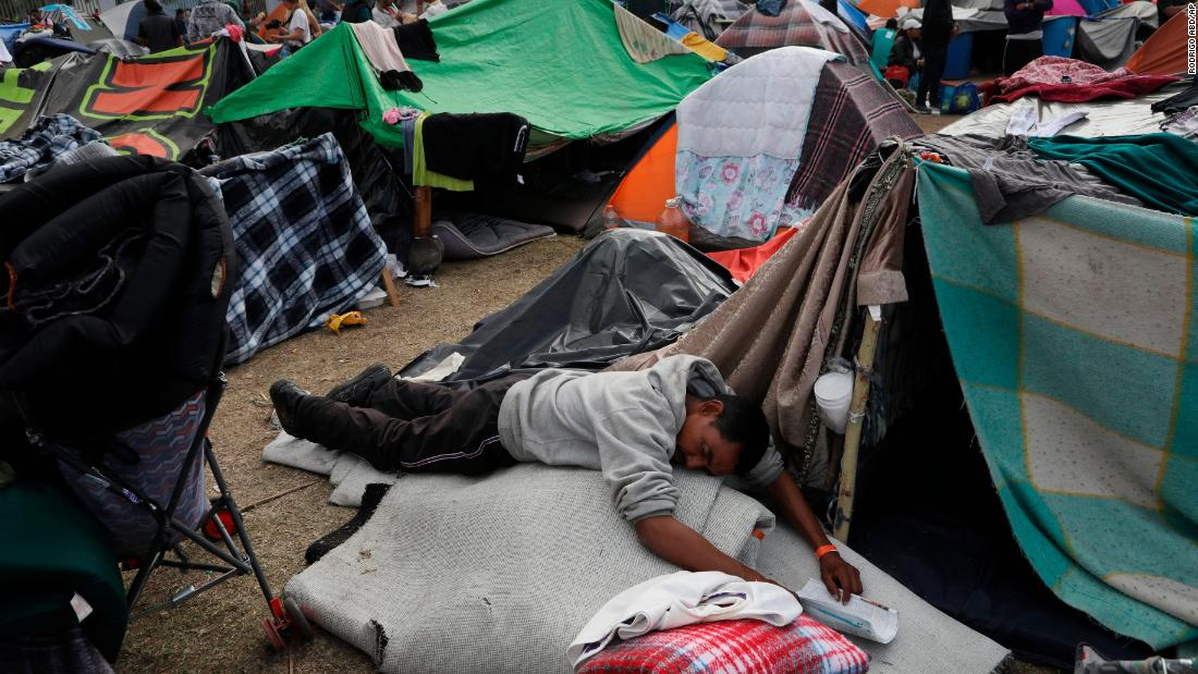 The tear gas is gone. But in this shelter at the border, the situation is getting worse