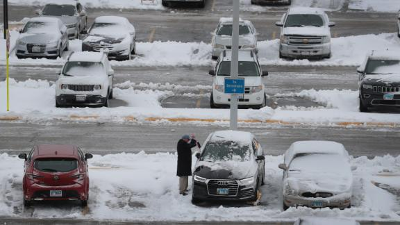 More than 1,300 flights were canceled at Chicago's O'Hare International Airport Monday.