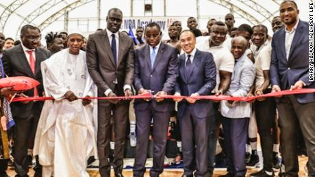 Photo taken during the NBA Academy Africa court launch and ribbon cutting in Sali, Senegal.